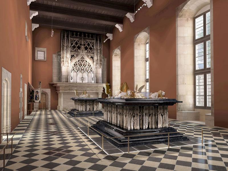 La salle des tombeaux après rénovation